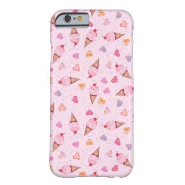 Valentines Themed I Heart Ice Cream iPhone Case