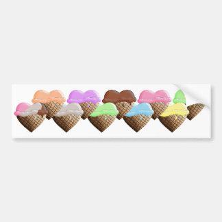 I (Heart) Ice Cream! Mixed Dips Bumper Sticker