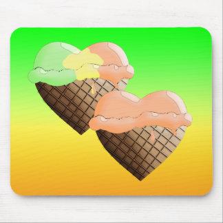 I (Heart) Ice Cream! Mixed Dips Mouse Pad