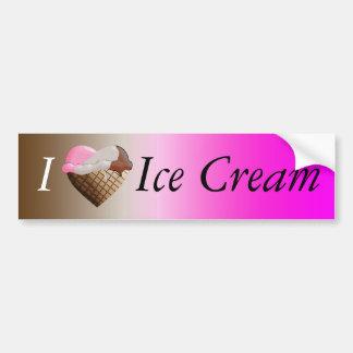 I (Heart) Ice Cream! Neapolitan Bumper Sticker