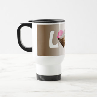 I (Heart) Ice Cream! Neapolitan 15 Oz Stainless Steel Travel Mug