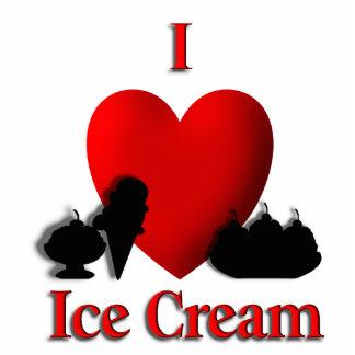 I Heart Ice Cream Standing Photo Sculpture
