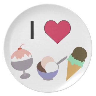 I Heart Ice Cream Plate