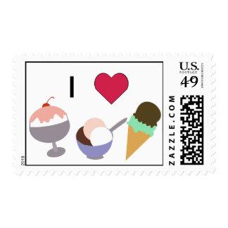 I Heart Ice Cream Stamps