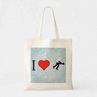 I Heart Ice Skating Budget Tote Bag