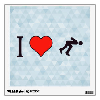 I Heart Ice Skating Wall Sticker