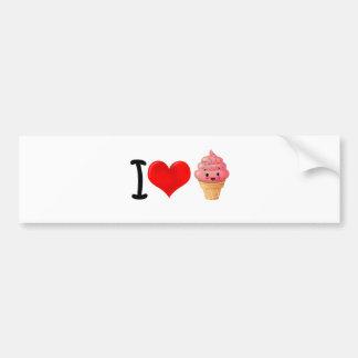 I Heart Icecream Car Bumper Sticker