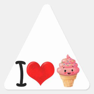 I Heart Icecream Triangle Sticker