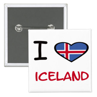 I Heart Iceland 2 Inch Square Button