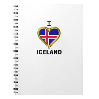 I HEART ICELAND SPIRAL NOTEBOOK