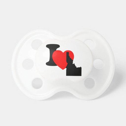 I Heart Idaho BooginHead Pacifier