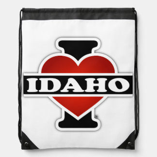 I Heart Idaho Drawstring Bag