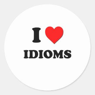 I Heart Idioms Classic Round Sticker