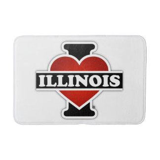 I Heart Illinois Bathroom Mat