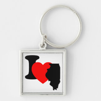 I Heart Illinois Keychain