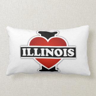 I Heart Illinois Lumbar Pillow