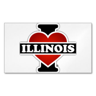 I Heart Illinois Magnetic Business Card