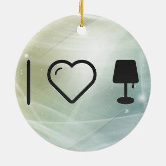 I Heart Illuminations Double-Sided Ceramic Round Christmas Ornament