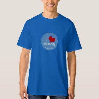 I Heart Immunity Mens Blue T-Shirt