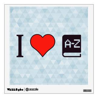 I Heart Improving My Language Wall Sticker