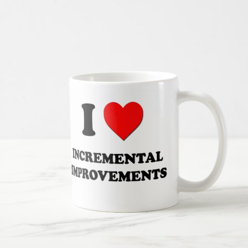 I Heart Incremental Improvements Coffee Mugs