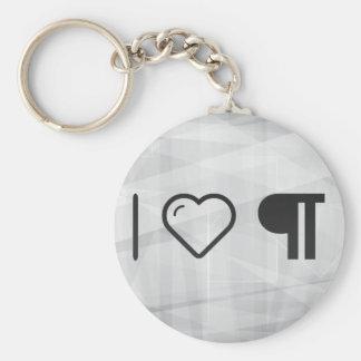 I Heart Indentations Basic Round Button Keychain