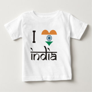 "I ""Heart"" India - I Love India Baby T-Shirt"