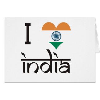 "I ""Heart"" India - I Love India Card"