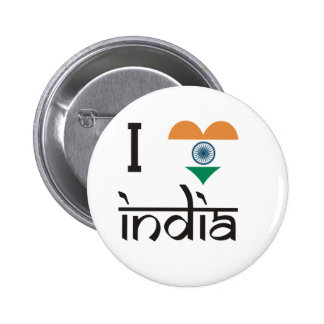 "I ""Heart"" India - I Love India Pinback Button"