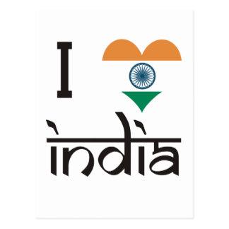 "I ""Heart"" India - I Love India Postcard"