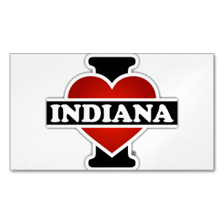 I Heart Indiana Business Card Magnet