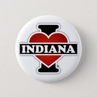I Heart Indiana Pinback Button