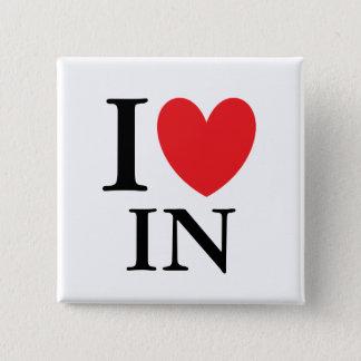 I Heart Indiana Pinback Button