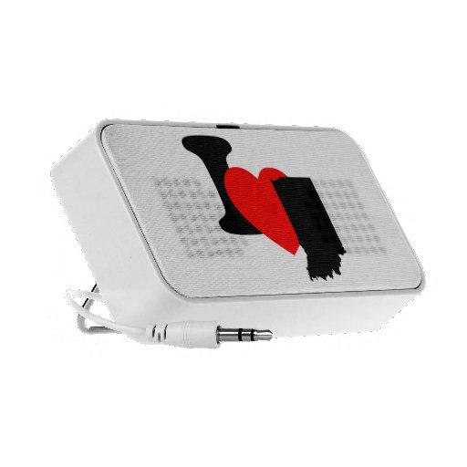 I Heart Indiana Portable Speakers