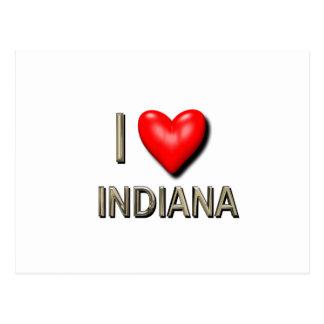 I Heart Indiana Postcard