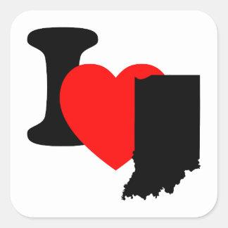 I Heart Indiana Square Sticker