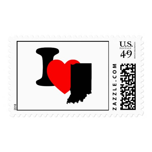 I Heart Indiana Stamps