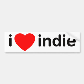 I Heart Indie Bumper Sticker