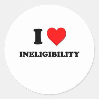 I Heart Ineligibility Round Stickers