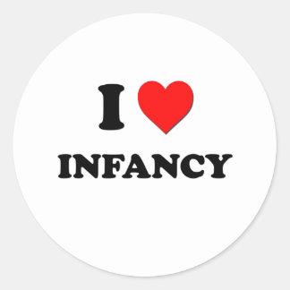 I Heart Infancy Stickers