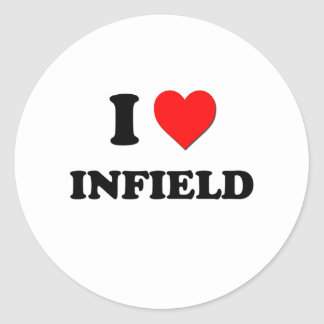 I Heart Infield Stickers