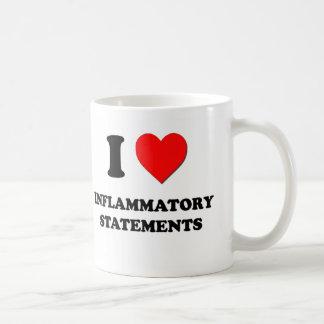 I Heart Inflammatory Statements Mugs