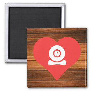 I Heart Installing Webcams Icon 2 Inch Square Magnet
