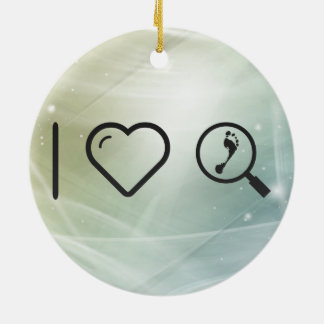 I Heart Investigations Double-Sided Ceramic Round Christmas Ornament