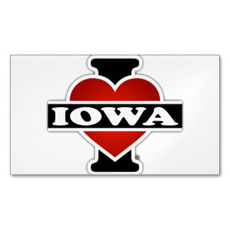 I Heart Iowa Business Card Magnet