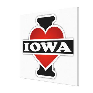 I Heart Iowa Canvas Print