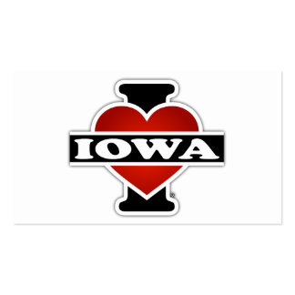 I Heart Iowa Double-Sided Standard Business Cards (Pack Of 100)