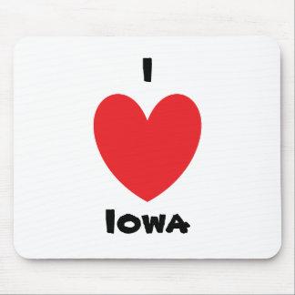 I Heart Iowa Mousepad