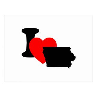 I Heart Iowa Postcard