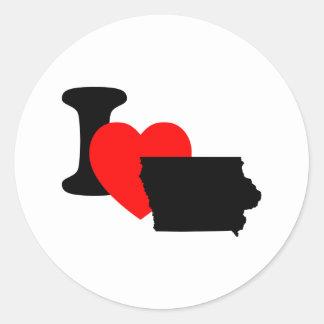 I Heart Iowa Sticker